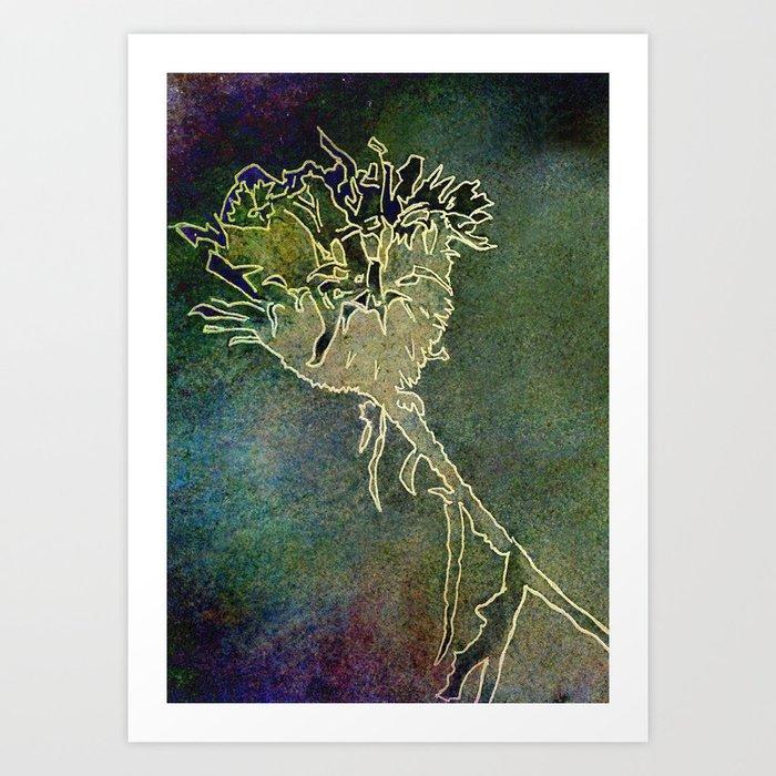 Blue Weed Art Print