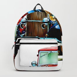 Vintage automobile retro fineart Backpack