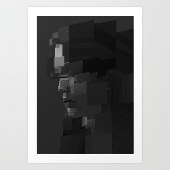 Facet Grey Art Print