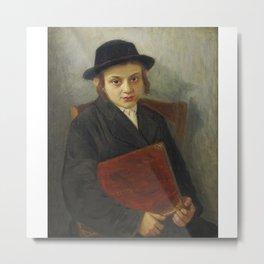 Lazar Krestin 1868-1938 PORTRAIT OF A JEWISH BOY Metal Print