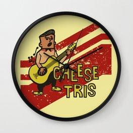 Chees Tris Wall Clock