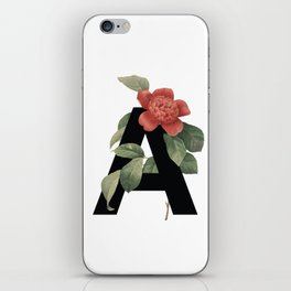 Floral Alphabet Prints: Letter A iPhone Skin
