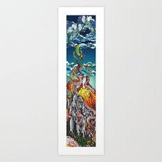 Kraken the Mountain Art Print