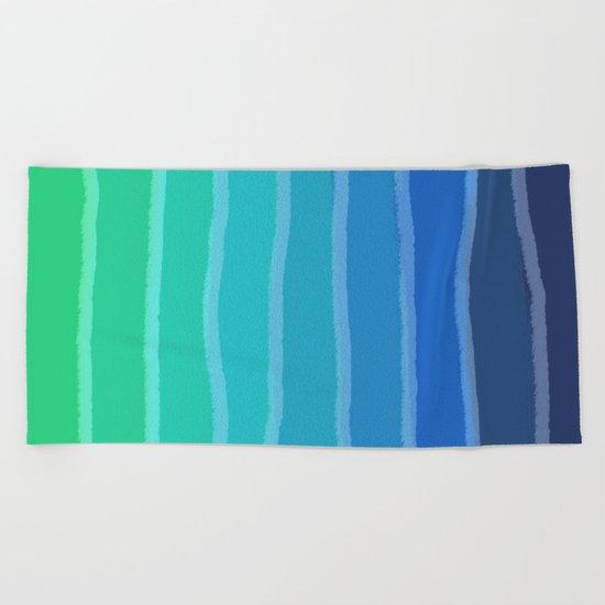 Vertical Color Tones #2 - Rainbow Collection Beach Towel