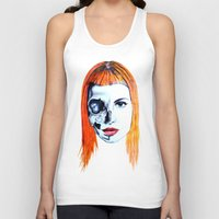hayley williams Tank Tops featuring Half Skull Half Hayley by anetambiel