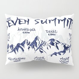Seven Summits Mountain   Pillow Sham