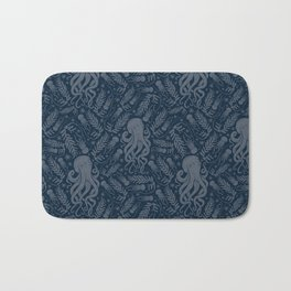 Octopus Squiggly King Of The Sea Pattern Bath Mat
