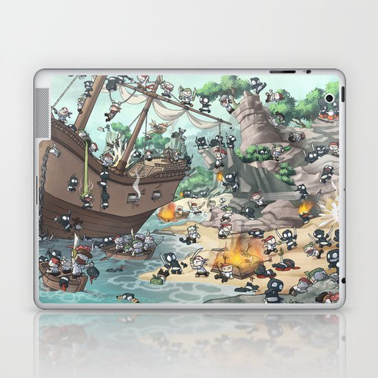 PiratesVSNinjas Laptop & iPad Skin