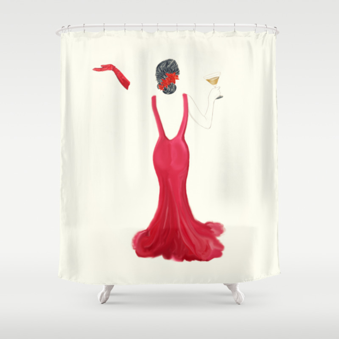 Toast and Vintage Shower Curtains | Society6