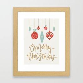 Merry Christmas Ornament Framed Art Print
