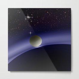 At night in orbit. Metal Print