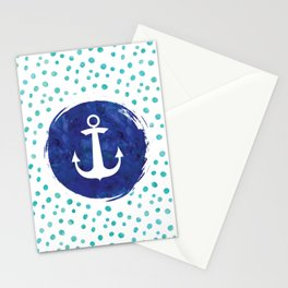 Watercolor Ship's Anchor Stationery Cards