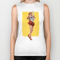 sailor venus Biker Tanks featuring Sailor Venus by KlsteeleArt