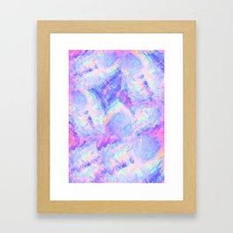 Pink Gemstone Framed Art Print