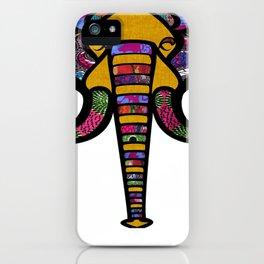 Retrocultural elephant head iPhone Case