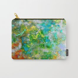 Abstract Art in Color Symphony Green Carry-All Pouch