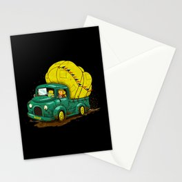 trucks and luggage Stationery Cards