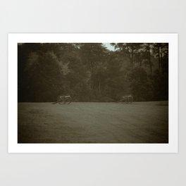Artillery Group Manassas National Battlefield Park Virginia Civil War Battleground Art Print