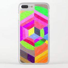 Spiral Hex Clear iPhone Case