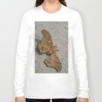 moth Long Sleeve T-shirts featuring Moth by Deb MacNeil
