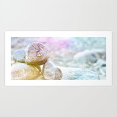 Anchor at the rock Art Print