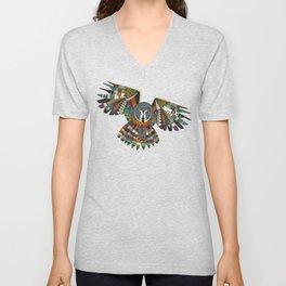 night owl charcoal Unisex V-Neck