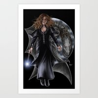 hermione Art Prints featuring Hermione by Flocco