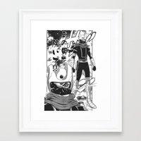 manga Framed Art Prints featuring Manga 04 by Zuno