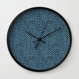 Hand Knit Niagra Blue Wall Clock