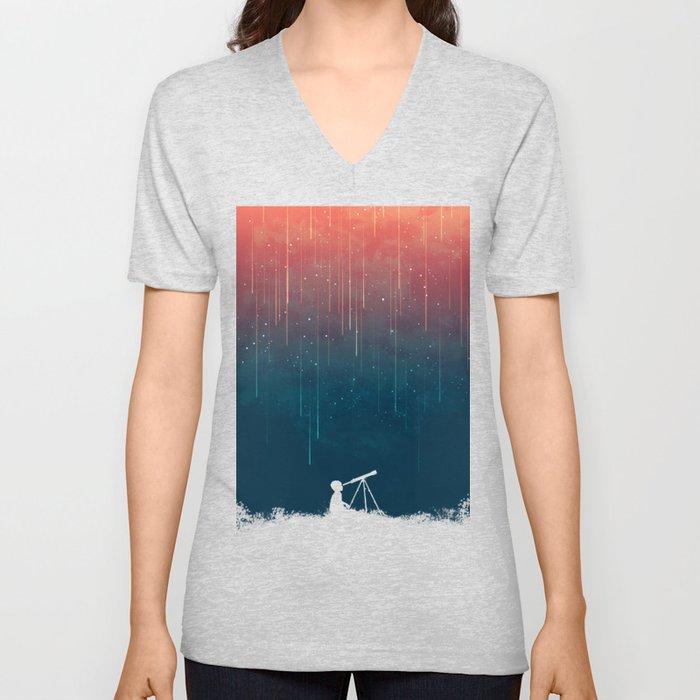 Meteor rain Unisex V-Ausschnitt