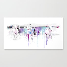 Horse in spots Canvas Print
