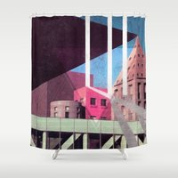 architecture Shower Curtains featuring Architecture  by Samuel Charrois