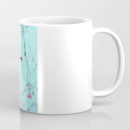 Pink Spring Flowers on Aqua Blue Green Sky Coffee Mug