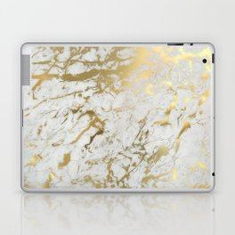 Gold marble Laptop & iPad Skin