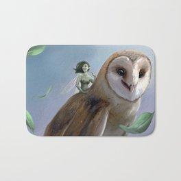 The Faery and the Barn Owl Bath Mat