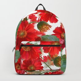 seamless   pattern of gerbera flowers . Endless texture Backpack