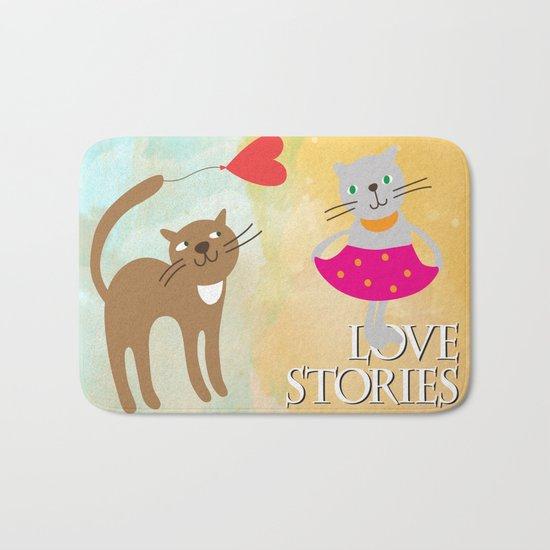 Cats - love stories Bath Mat