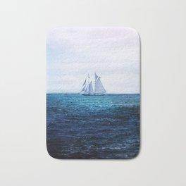 Sailing Ship on the Sea Bath Mat