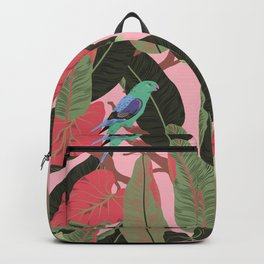 Sunny Hawaii Tropical Exotic Birds of Paradise Backpack