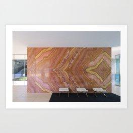 Barcelona's German Pavilion Onyx Marble Wall by Mies van der Rohe Art Print