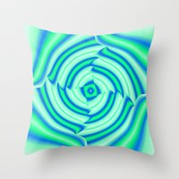 blues Throw Pillows featuring Blues by Elena Indolfi