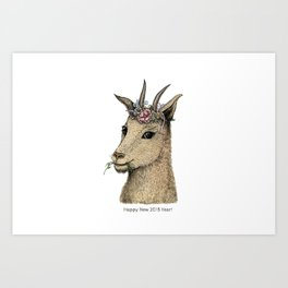 Goat – Sign of 2015 Year Art Print
