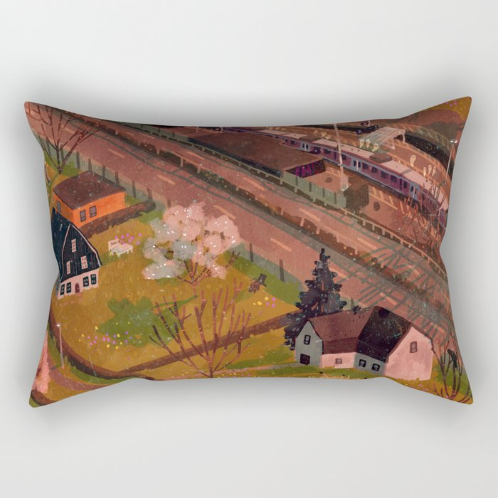 train station Rectangular Pillow