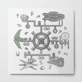 Intergalactic Rendezvous Metal Print