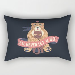 Ill Never Let You Go Bear Love Cat Rectangular Pillow