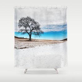 Divided Winter Shower Curtain