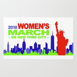 women's march , new york city , 2018 Rug