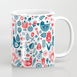 Scandinavian Red Blue Coffee Mug