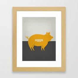 Eggs/Bacon Framed Art Print