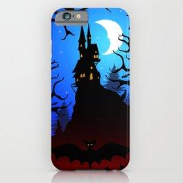 Dark Forest on Halloween Night iPhone Case